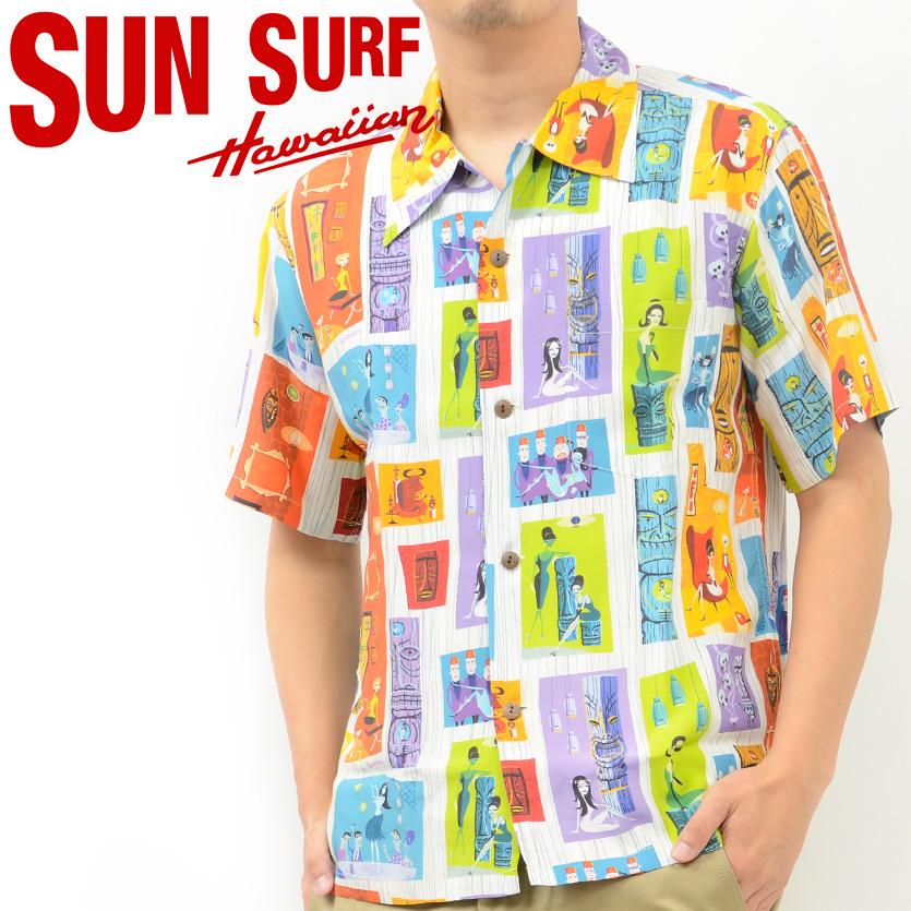 サンサーフ SUN SURF アロハ シャツ TIKI PARADISE by SHAG KEONI OF HAWAII 東洋 SS37654  クリスマス ギフト プレゼント ラッピング