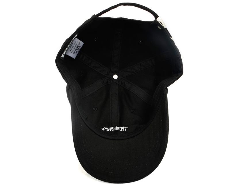 7f6d6231 ... Slasher THRASHER cap Lady's men unisex black logo CAP LOGO embroidery  strap back handwriting logo 6PANEL ...