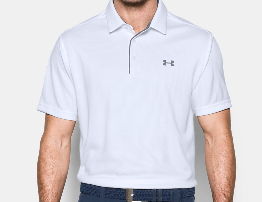 aef63c90f ... UNDER ARMOUR under Armour polo shirt men short sleeves big size plain  fabric sports technical center ...