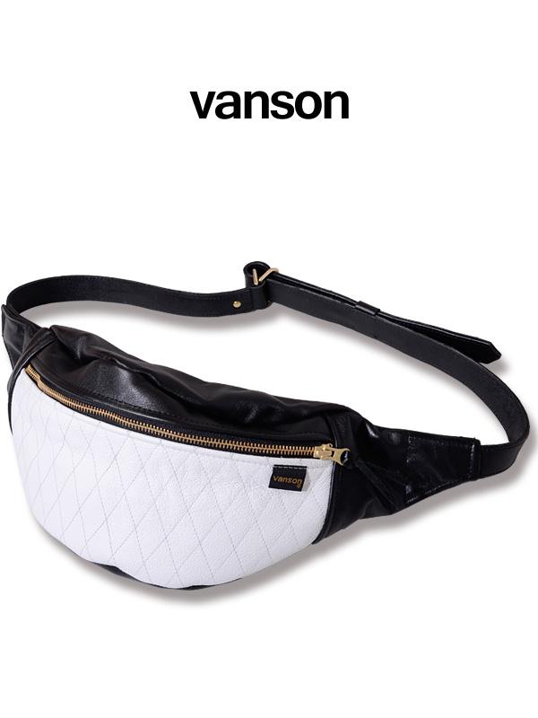 VANSON バンソン ショルダーバッグ バッグ メンズ レディース ユニセックス ブランド 斜め掛け VANSON Leather 9SBB Quilting Funny Pack キルティング ファニーパック ファニーバッグ ボディバッグ ウエストバッグ 本革 NVBG-901-W 母の日 ギフト プレゼント ラッピング