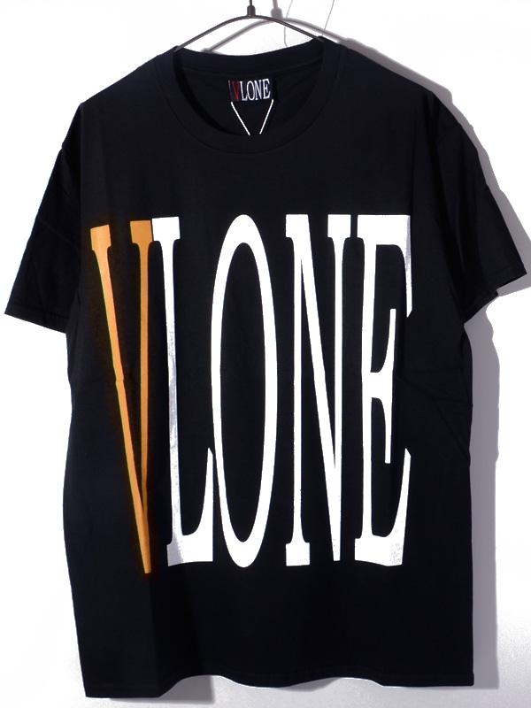 VLONE ヴィーロン ヴィーローン Tシャツ メンズ レディース ユニセックス 半袖 STAPLE T-SHIRT S/S TEE BLACK/ORANGE A$AP Mob エイサップモブ ASAP BARI エイサップ バリ Ian Connor イアン・コナー Kanye West カニエ・ウエスト 愛用ブランド STAPLE-SST-BO