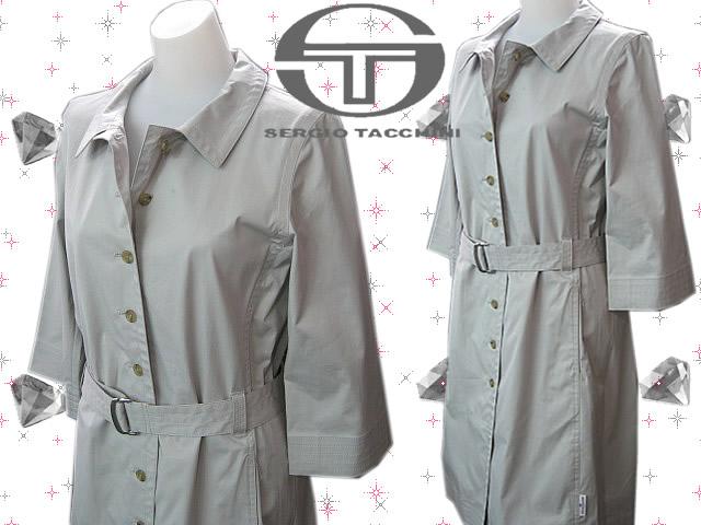 【送料無料】セルジオタッキーニ7分袖コート SEW802トレンチ/Lグレー/ジャケット