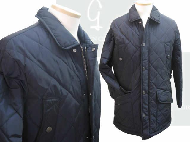 【送料無料】グリーンクラブ 中綿キルティングハーフジャケット 1921-2370-27藍色【アウター/ジャンバー【送料無料】