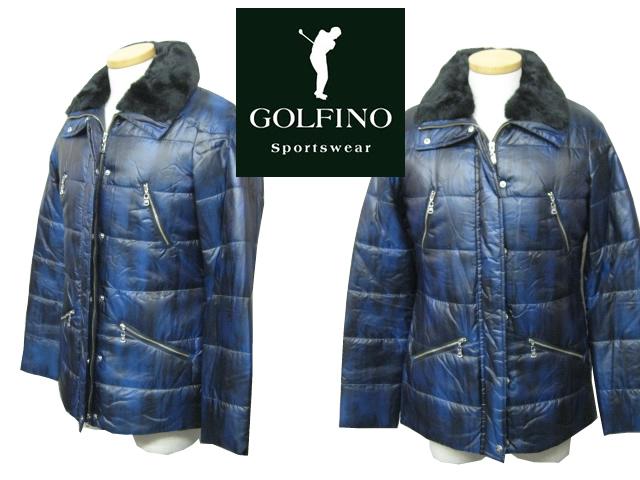 ゴルフィーノ レディース 襟ボア中綿ジャケット 2551254【GOLFINO/海外一流メーカー】