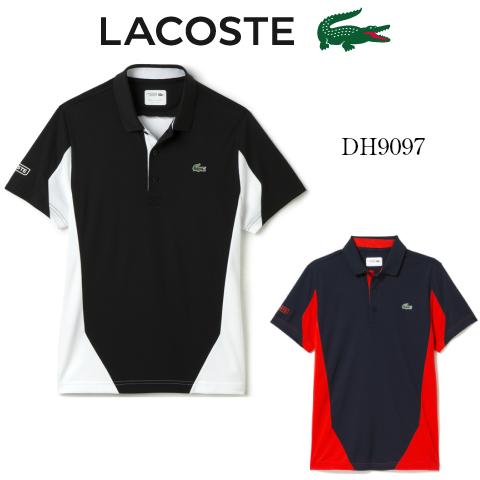 LACOSTE/ラコステ吸湿発散性カラーブロックポロシャツDH9097メンズ/高機能/ウエア/(半袖)