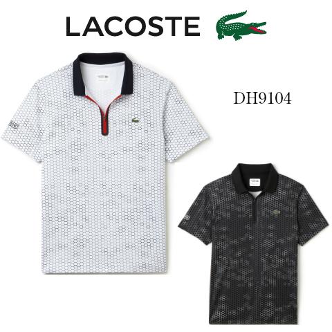 LACOSTE/ラコステストライプ柄ポロシャツDH9104メンズ/高機能/ウエア/(半袖)