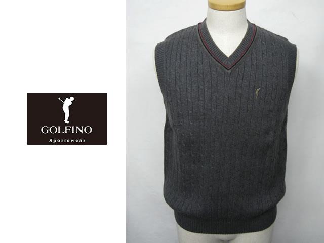【送料無料】ゴルフィーノ メンズニットベスト 1710114【GOLFINO/海外一流メーカー】