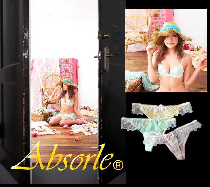 Absolu AbsorleT バックショーツセットブラジャー & T panty 3-point set rose double pettbustoupbra & T panty set 3-point set A454T