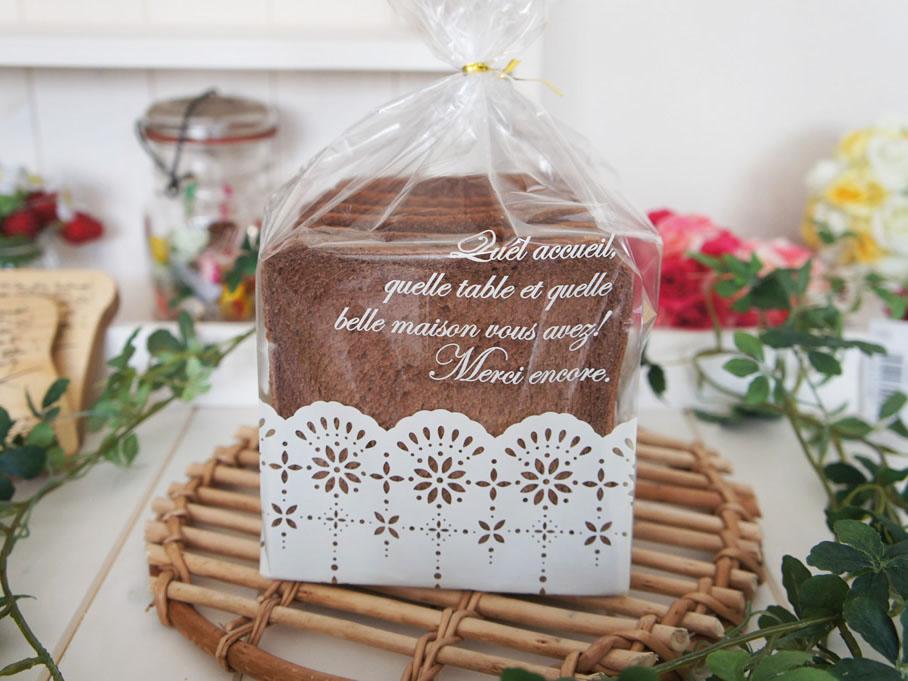 可愛いお洒落 食パン袋 6枚白 デザインベーカリー袋 最新アイテム お値打ち価格で 手作りパン レース シュガー