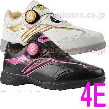 4E EEEE ゴルフスパイク 通常在庫商品 即納 ゴルフシューズ ダイヤル フリーロック レディース MEGA 02P05Nov16 発売モデル Spikeless Shoes メガ Walking 格安激安 MG-77 Golf スパイクレス ウォーキング