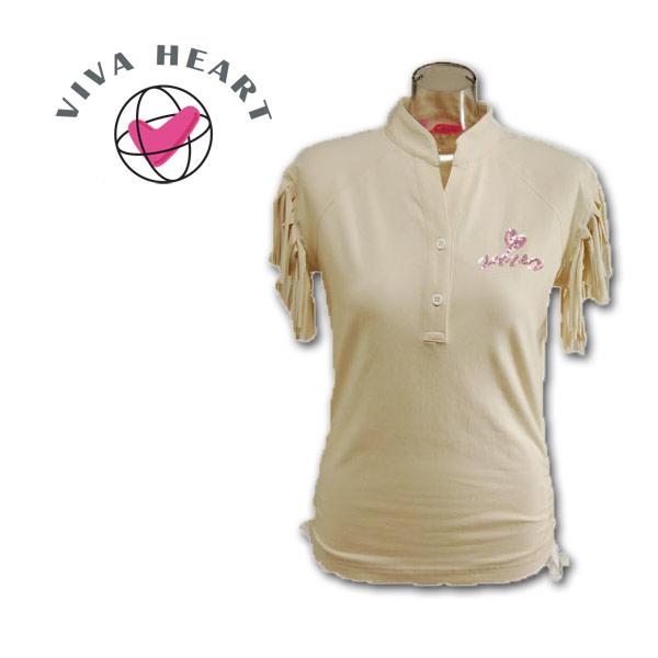 【あす楽 送料無料 】ビバハート ゴルフウェア VIVA HEART 半袖シャツ【M 】 012-22547-06