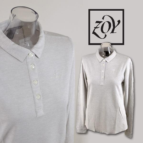 【あす楽】【送料無料】【30%OFF】ゾーイ レディース 長袖ポロシャツS M ゴルフウェア ZOY 48000 アウトレット
