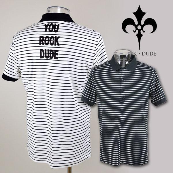 【】【あす楽 送料無料】【30%OFF】ロックデュード メンズ ゴルフウェア ROCK・DUDE 半袖ポロシャツM L 149302 アウトレット