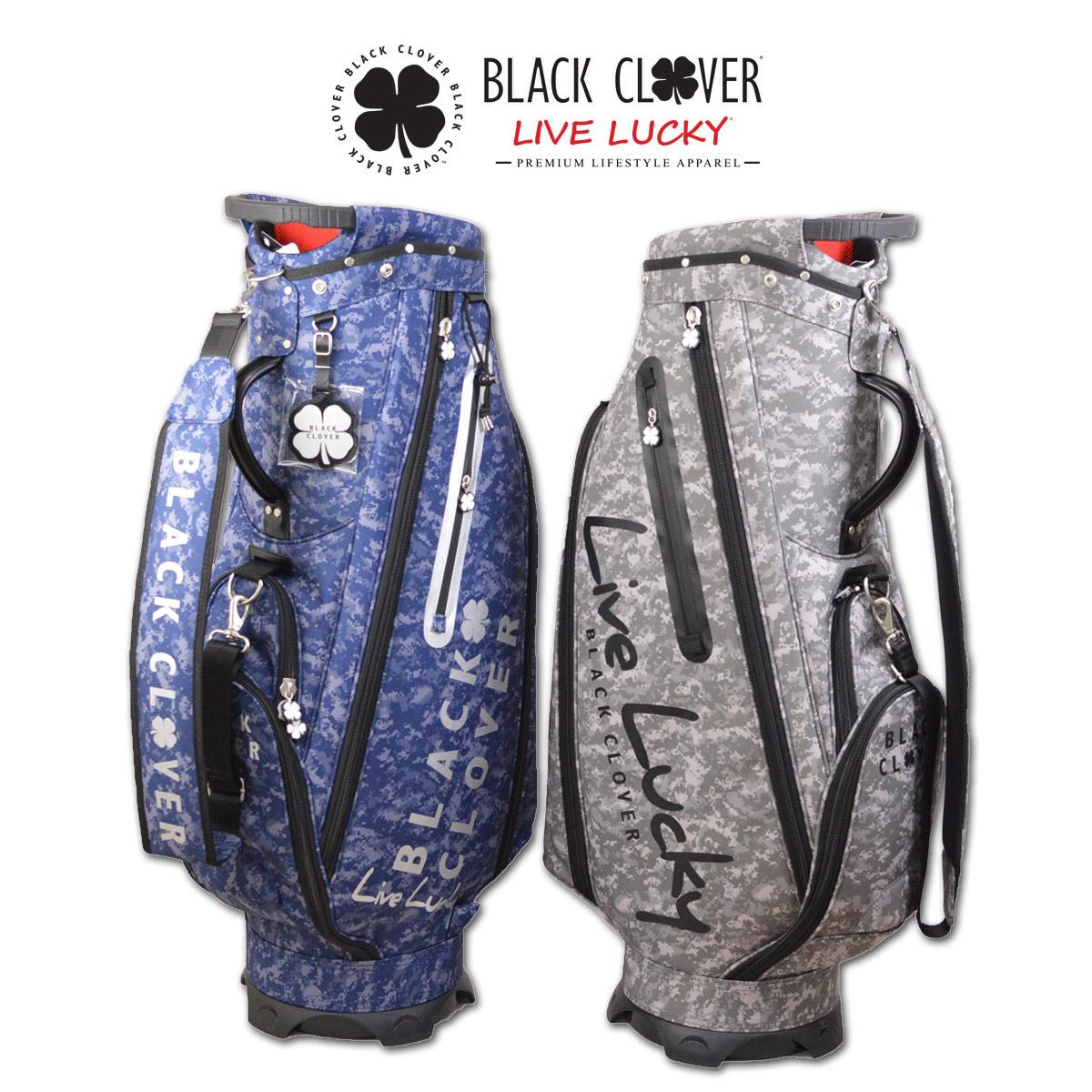 ブラッククローバー キャディバッグ メンズ 紺 グレー 9インチ bc5hnc16【 あす楽 送料無料 】 [ ゴルフウェア golf ゴルフ BLACK CLOVER ゴルフバッグ キャディバック かっこいい おしゃれ 新作 レア ]