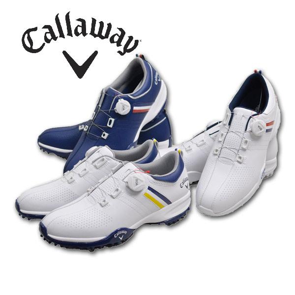 キャロウェイ ゴルフシューズ メンズ 白/紺 24.5cm/25cm/25.5cm/26cm/26.5cm/27cm/27.5cm/28cm 8983502【 あす楽 】 [ callaway ゴルフウェア BOA 18 AEROSPORT ウェア golf キャラウェイ 靴 スポーツ プレゼント ギフト キャロウェイアパレル 大きいサイズ 父の日 ]