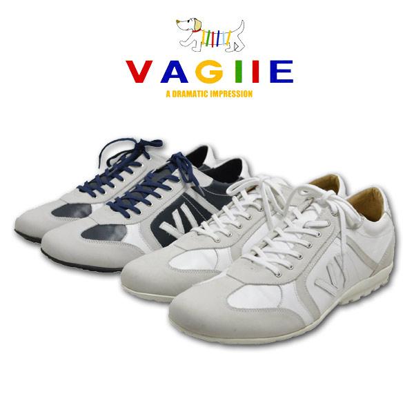 バジエ スニーカー メンズ レザー 白 紺 (25cm,26cm,27cm) 9220-0402【 あす楽 送料無料 】[ VAGIIE 本皮 靴 ホワイト ネイビー ギフト おしゃれ かっこいい 大きいサイズ 日本製 プレゼント 即納 父の日 ]