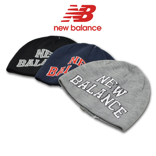 2212694ce3bc4 ROUND OVER: New Balance knit hat men gray black dark blue gray 012 ...