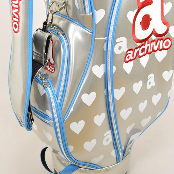 988514c0c48f アルチビオキャディバッグレディースシルバー   gold 810909  rare archivio golf golf wear golf bag  golf bag enamel 8 inches new work Lady s cute joke cute ...