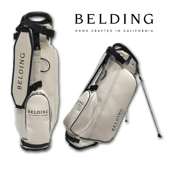 BELDING キャディバッグ メンズ 白 スタンド式 hbcb-850101【 あす楽 送料無料 】[ ベルディング ゴルフ スタンド 8.5インチ 5分割 サンバード 2.0 スタンドバッグ ホワイト ゴルフバッグ かっこいい おしゃれ golf 高級 レア 父の日 限定 キャディーバッグ ]