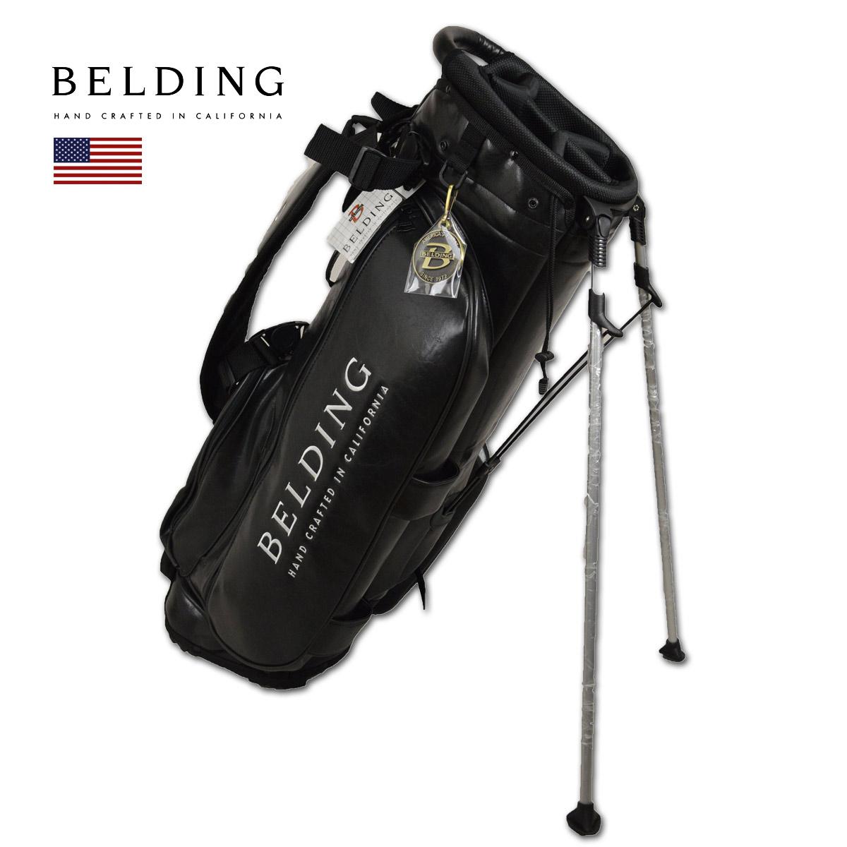 BELDING キャディバッグ メンズ 黒 スタンド式 hbcb-850119【 あす楽 送料無料 】[ ベルディング ゴルフ スタンド 8.5インチ 5分割 サンバード 2.0 スタンドバッグ ブラック ゴルフバッグ かっこいい おしゃれ golf 高級 レア 父の日 限定 キャディーバッグ ]