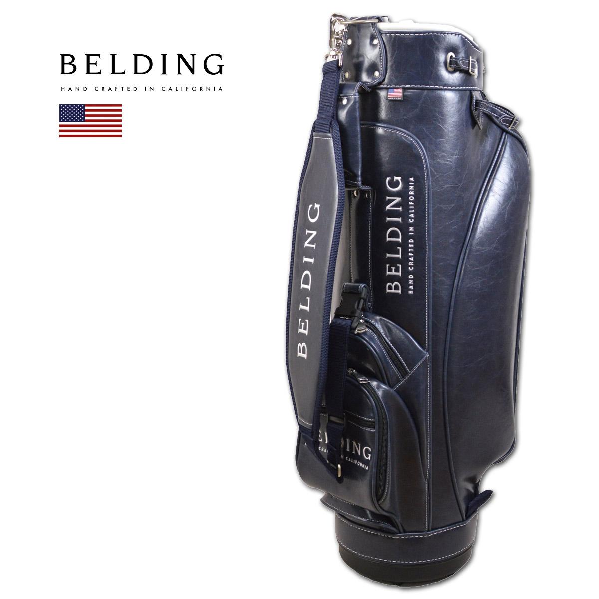 BELDING キャディバッグ メンズ 紺 自立式 hbcb850125【 あす楽 送料無料 】[ ベルディング ゴルフ 8.5インチ 6分割 マリーン・グレーズ MARINE GLAZE ゴルフバッグ かっこいい おしゃれ golf ネイビー 高級 レア 限定 キャディーバッグ ]