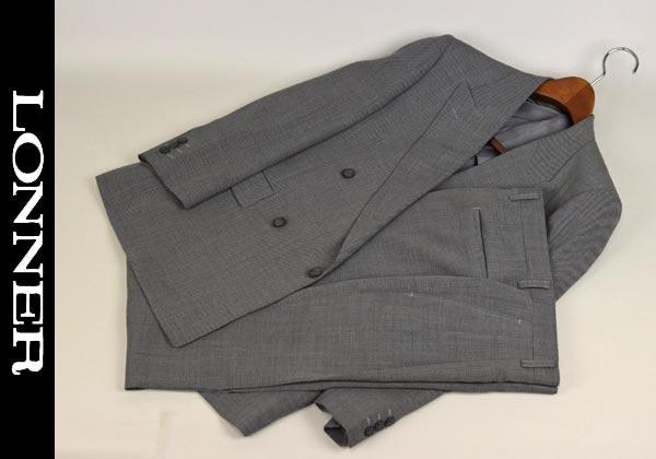 【あす楽】【送料無料】ロンナー/春夏スーツ ダブル4釦 AB3 日本製 3011-68