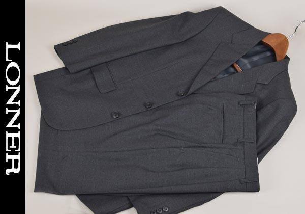 【あす楽】【送料無料】ロンナー/秋冬スーツ シングル3釦 S 日本製 3022-51