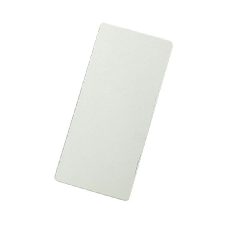 高品質新品 商店 ドライバー用ネームプレートのホルダー まとめ買い特価 ネームプレート用無地プレート 白 110×240 板のみ単品 10枚