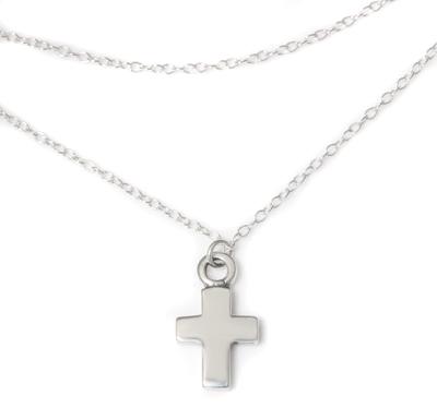 ロイヤルオーダー【公式】【アンクレット】Delicate tiny oval double chain anklet w/ cross(アンクレット・足首用)【アンクレット】 【ROYAL ORDER】