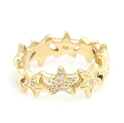 ロイヤルオーダー【公式】【リング】Starshine Thin Band w/Pave Diamonds 10K (US7-US8.5) 【ROYAL ORDER】