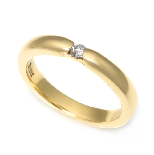 ロイヤルオーダー【公式】【リング】HALO RING w/1 DIAMOND 18K YELLOW GOLD size9-10.5 【ROYAL ORDER】