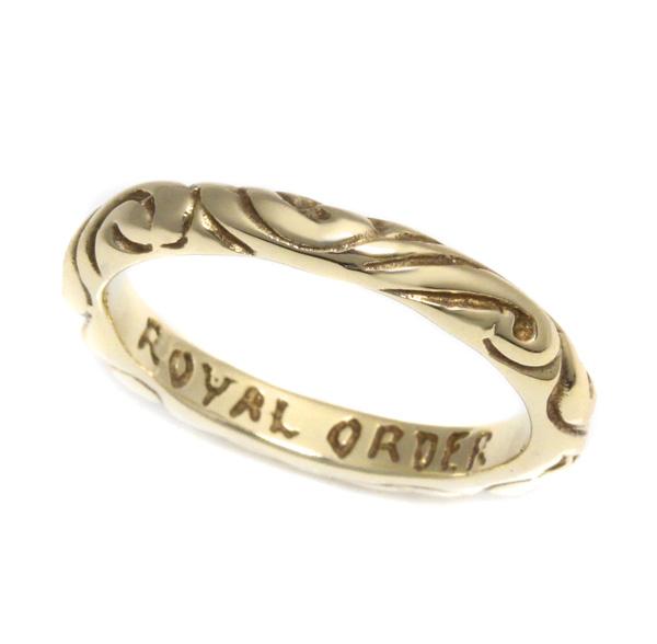 ロイヤルオーダー【公式】【リング】RIBBON BAND 10K Gold (US11-US12) 【ROYAL ORDER】