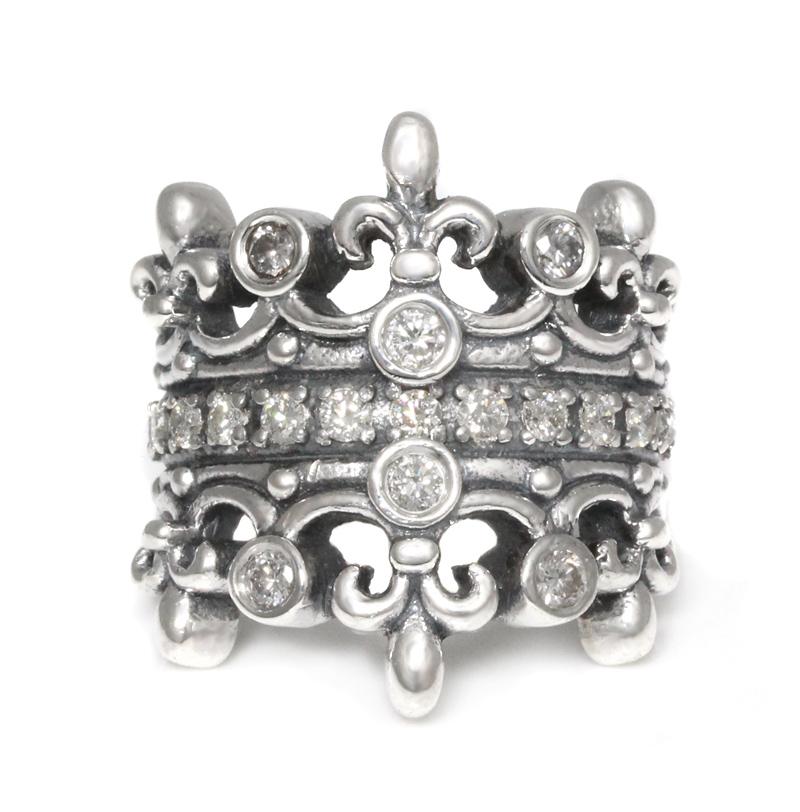 ロイヤルオーダー【公式】【リング】DOUBLE TIARA W/Diamond & Diamond  【ROYAL ORDER】