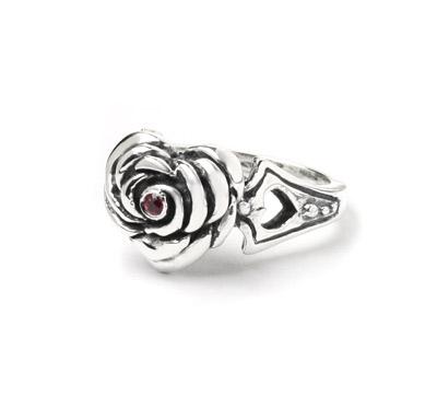 ロイヤルオーダー【公式】【リング】Small Heart Rose w/CZ 【ROYAL ORDER】