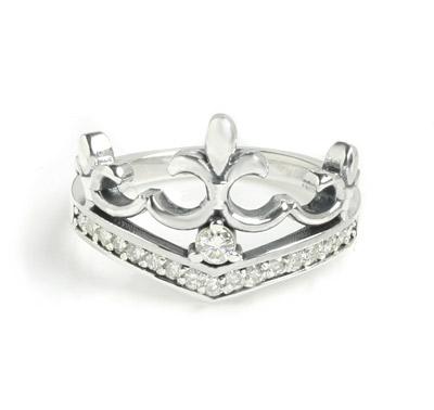 ロイヤルオーダー【公式】【リング】DELICATE TIARA w/ 1 CENTER DIAMOND & PAVE DIAMONDS 【ROYAL ORDER】