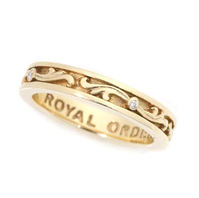 ロイヤルオーダー【公式】【リング】SML VERONETTE w/ DIAMONDS 10K Gold(2-4.5) 【ROYAL ORDER】