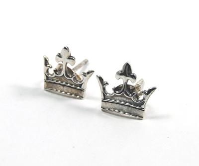 ロイヤルオーダー Royal OrderSilver Plain Q crown Studs【ロイヤルオーダーイヤリングピアス】 【ROYAL ORDER】