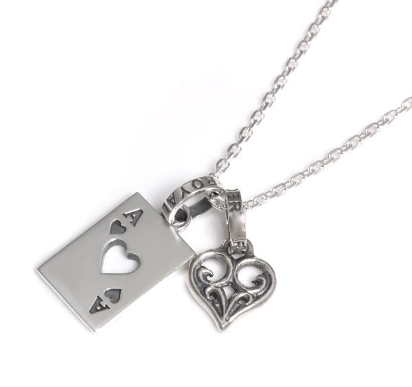 【ロイヤルオーダー ペンダント】[ストア特別セット]Ace Of Heart&SMALL ALLEGRA HEART 【ROYAL ORDER】