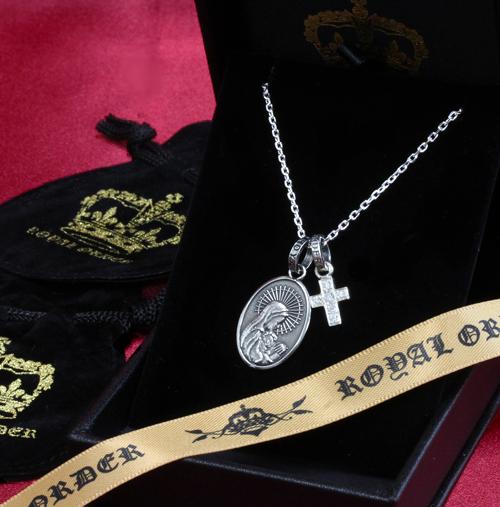 【ロイヤルオーダー ペンダント】【ストアスペシャルセット】CROSS W/RO JR W/DIAMONDS &MADONNA SET【ROYAL ORDER】