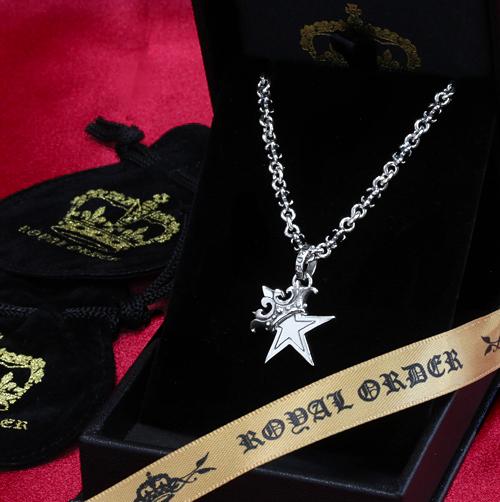 【ロイヤルオーダー ペンダント】【ストアスペシャルセット】SMALL STAR w CROWN & TINY-C-CHAIN [20inch]