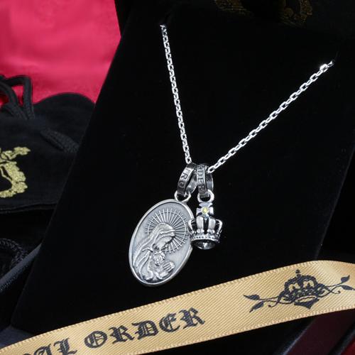 ロイヤルオーダー【公式】【ペンダント】【ストアスペシャルセット】MADONNA &TINY CROWN W/1 YELLOW DIAMOND 【ROYAL ORDER】