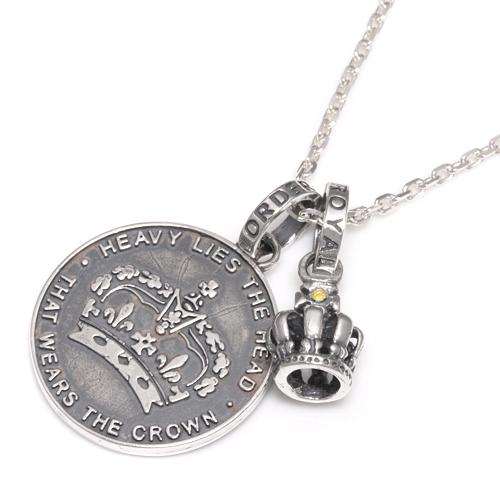 ロイヤルオーダー【公式】【ペンダント】【スペシャルセット】TINY CROWN W/1 YELLOW DIAMOND 【限定品】 & HOUSE CROWN 【ROYAL ORDER】