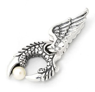 ロイヤルオーダー【公式】【ペンダント】Winged Talon w/Ball 【ROYAL ORDER】