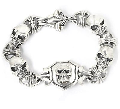【ロイヤルオーダー ブレスレット】Lucky Skull Horseshoe Bracelet 【ROYAL ORDER】