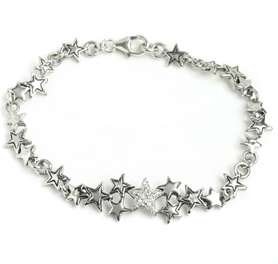 ロイヤルオーダー【公式】【ブレスレット】Starshine Constellation with Pave Diamonds(7.5-8inch)