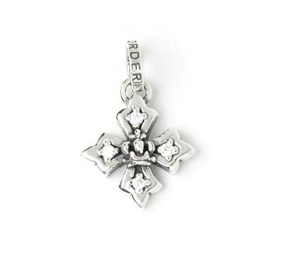 ロイヤルオーダー【公式】【ペンダント】Small Harmony Cross w/Crown&Side CZs