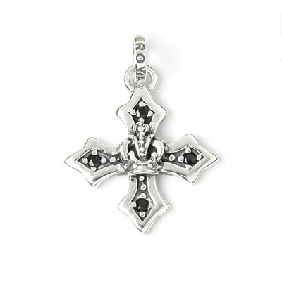 【ロイヤルオーダー ペンダント】Medium Harmony Cross w/Crown&Side CZs