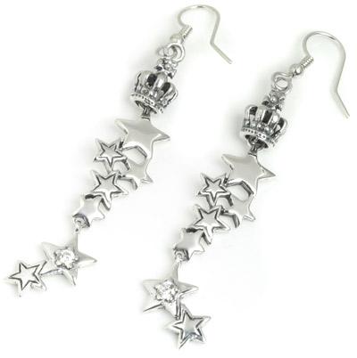 ロイヤルオーダー【公式】【イヤリング/ピアス】Starshine Constellation with Tiny Crown(1個単位)【ロイヤルオーダーイヤリングピアス】