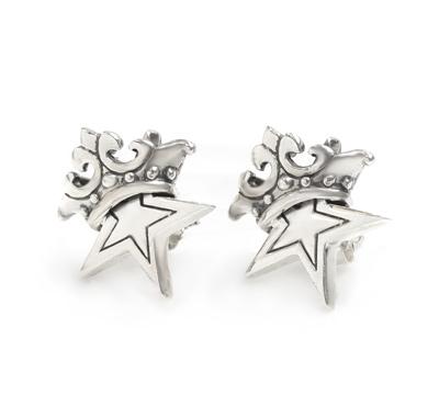 ロイヤルオーダー【公式】【イヤリング/ピアス】small solid star w. crown studs(1個単位) 【ROYAL ORDER】