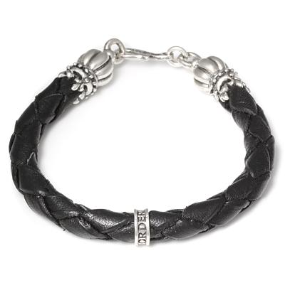 ロイヤルオーダー【公式】【ブレスレット】Thick braided bracelet w/ Crown Tips 【ROYAL ORDER】